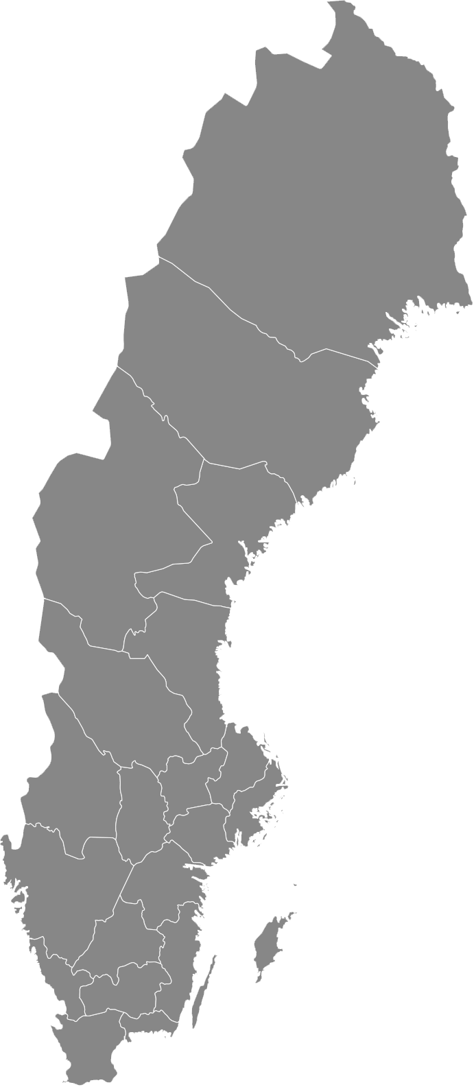 a single map of Sweden
